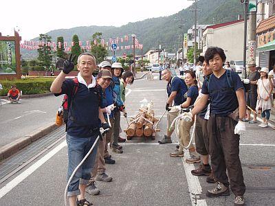 上松町 木馬引き大会