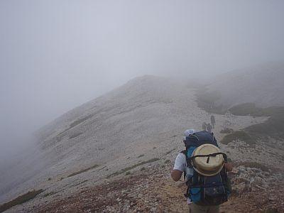 白馬三山縦走登山