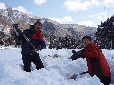 雪掘り野菜
